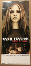 AVRIL LAVIGNE Rare 2004 DOUBLE SIDED PROMO POSTER FLAT for Skin CD 12x28 USA