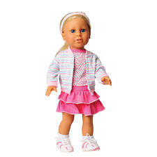 "Today's Girl 7 pc. ""Rah Rah Ruffles"" Clothing Set with Pink Ruffley Skirt for 18"