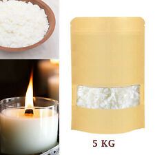 5KG Soy Wax 100% Pure 5000gm DIY Candle Making Wax Natural Flakes Clean Burning