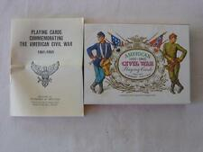 AMERICAN 1861-1865 CIVIL WAR PLAYING CARDS  H. FOURNIER MADE IN SPAIN