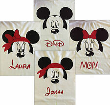 Disney Family T-Shirts *Custom Designed Mickey or Minnie*Sizes from NB-Adult 3X