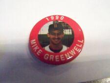 MIKE GREENWELL BASEBALL BUTTON PIN 1990