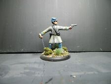 1/32  54mm CONFEDERATE OFFICER #1 - Hand Painted Based  Plastic - ACW - AIP