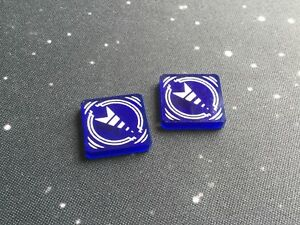 X-Wing 2.0 compatible, acrylic cloak tokens - translucent series