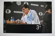 Gm vladimir kramnik signed foto autógrafo Autograph ip6 Grandmaster Chess