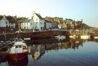 PHOTO  THE HARBOUR AT CRAIL 1992