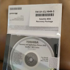 Toshiba Recovery and Applications/Drivers DVD Satelite M35 Series
