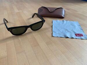 Ray-Ban RB 2140 901 Wayfarer Sonnenbrille Schwarz 140cm