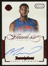 2012-13 Panini Flawless Ruby Inscriptions Andre Drummond AUTO 2/15 Pistons