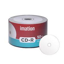 50 Pack Imation CD-R 52X 700MB White Inkjet Hub Printable Blank Recordable Disc