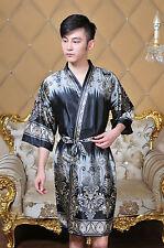 Charming Chinese Silk Women's/Men's Kimono Robe Gown bathrobe average size