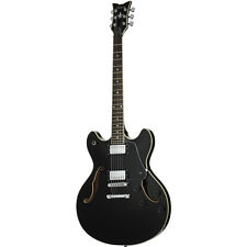 Schecter Corsair with T.O.M Gloss Black BLK B-STOCK Semi-Hollow Guitar TOM