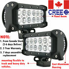 2x 7INCH 36W CREE Led Work Light Bar Flood Driving Fog Offroad Jeep Truck A7 SUV