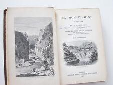 SALMON FISHING CANADA Adamson Alexander 1860 Signature