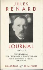 Jules Renard, Journal, Bbliothèque de la Pléiade