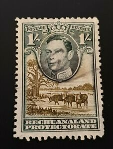 Bechuanaland 1938 GVI 1/- Grey-Black & Olive-Green Fine Used SG125a Cv£50