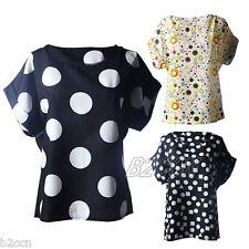 Summer Fashion Women Blouse O Neck Short Sleeve T Shirt Loose Casual Chiffon Top
