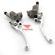 "7/8"" 22mm Motorcycle Hydraulic Clutch Brake Pump Master Cylinder Levers Aluminum"