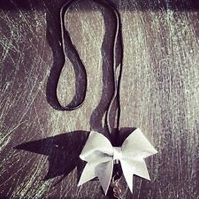 Glitter mini cheer bow lanyard. Available in any color. Check out our color char