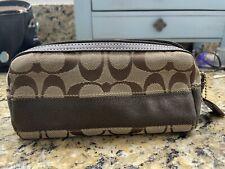 Coach cosmetic makeup bag, pencil case