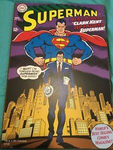 Superman DC National Comics Nov No. 201 Clark Kent Wall Art