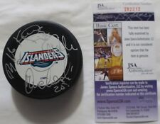 NY Islanders Multi Signed Authentic Autographed Puck (4 Sigs) JSA #T82212