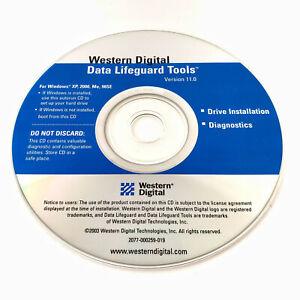 Western Digital DATA LIFEGUARD TOOLS v 11.0 CD for Windows XP, 2000, ME, 98SE