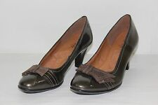Euro Soft Sofft Womens Sz 6 M Bronze Leather 2 ½ Inch High Heels Pumps Shoes NEW