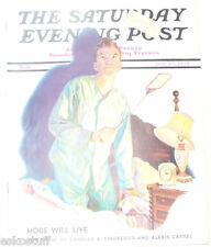 Saturday Evening Post 1938 Fly Swatter Sambrook cover Nice Picture! See!
