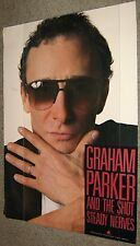 GRAHAM PARKER and the Shot STEADY NERVES promo POSTER 36x25 Elektra Records 1985