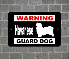 Havanese warning Guard Dog breed metal aluminum sign