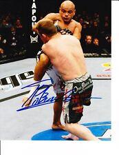 UFC STAR THIAGO ALVES SIGNED KICKING 8X10