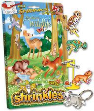 26 WOODLAND WILDLIFE EMBELLISHMENTS SHRINKLES SHRINKIE SHRINK ART BUMPER BOX SET