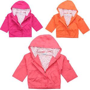 Kinder Mädchen Jacke mit Kapuze Übergangsjacke Windjacke Kapuzenjacke 3 Farben