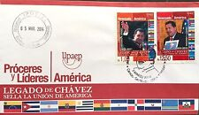 Venezuela: UPAEP 2014 Proceres y Lideres: Hugo Chavez. First Day Cover. FDC SPD