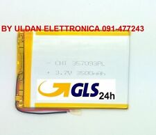BATTERIA TABLET PC 3,7V 3500mAH - Dimensioni 9,5cm * 7,0 cm * 0,3 cm
