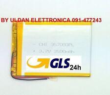 BATTERIA TABLET PC 3,7V 3500mAH - Dimensioni 9,5cm * 7,0 cm * 0,3 cm - GLS 24H