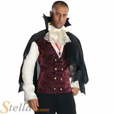 Mens Vampire Costume Halloween Count Dracula Fancy Dress Adult Outfit