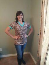 Crazy Train Leopard/Turquoise Size M