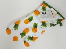 KitchenAid Oven Mitt with Pineapples and Avocado Green Trim and Quilted Lining