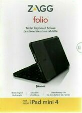 ZAGG Folio Case for iPad mini 4 Hinged Case with Bluetooth Keyboard  - Black