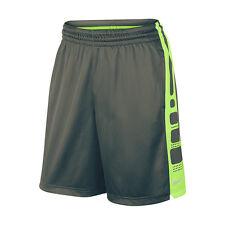 NIKE ELITE STRIPE BASKETBALL SHORTS MENS SIZE L NWT GRAY GREEN BLACK 718378 NEW