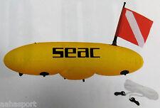 Tauchboje Torpedoboje fluo gelb mit Bojenleine SEACSUB