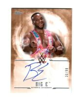 WWE Big E 2017 Topps Undisputed Bronze On Card Autograph SN 30 of 99