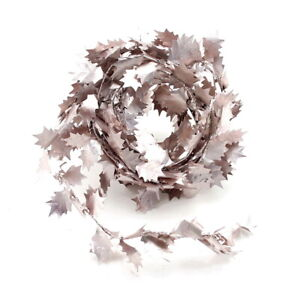 Ilex Leaves Garland Rose/Gold, 2,75 Meter With Wire, Artificial
