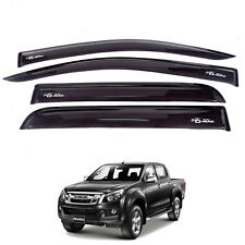 For 12+ Isuzu Holden Colorado Dmax D-Max Ute Visor Weather Guard 4 Doors Black