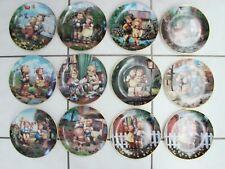 12 Goebel Hummel Little Companions Collector Plates Danbury Mint Complete Set