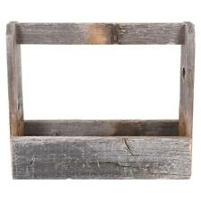 Rustic Tool Caddy Old Vintage Box Barn Wood Carry Tote Country Decor Gift NEW