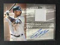 2020 TOPPS SERIES 1 MAJOR LEAGUE MATERIAL GLEYBER TORRES AUTO-RELIC 28/30