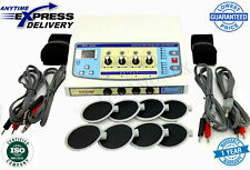 Electrotherapy Physical Therapy with 4 Channels Therapy Equipment